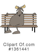 Royalty-Free (RF) Moose Clipart Illustration #1361441