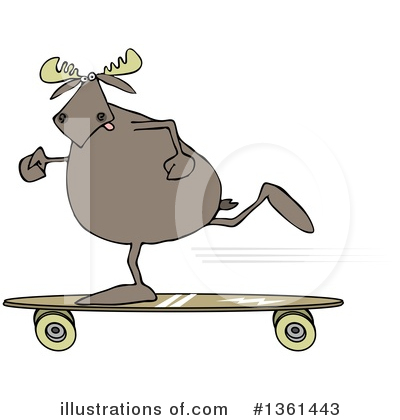 Skateboarding Clipart #1361443 by djart