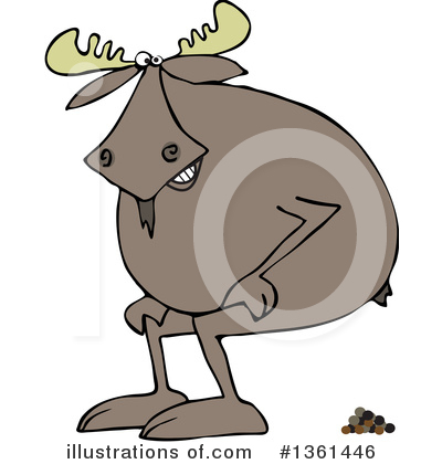 Royalty-Free (RF) Moose Clipart Illustration by djart - Stock Sample #1361446