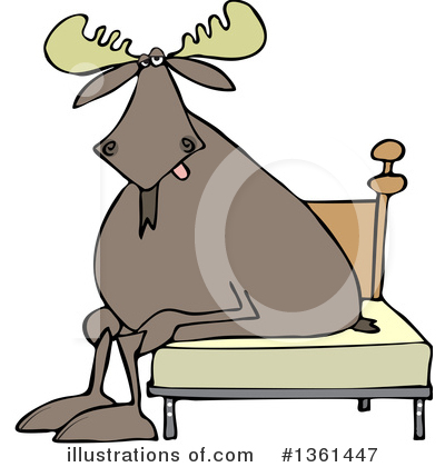Royalty-Free (RF) Moose Clipart Illustration by djart - Stock Sample #1361447