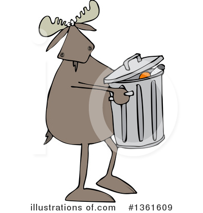 Moose Clipart #1361609 by djart