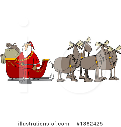 Royalty-Free (RF) Moose Clipart Illustration by djart - Stock Sample #1362425