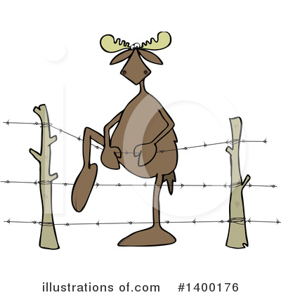 Royalty-Free (RF) Moose Clipart Illustration by djart - Stock Sample #1400176