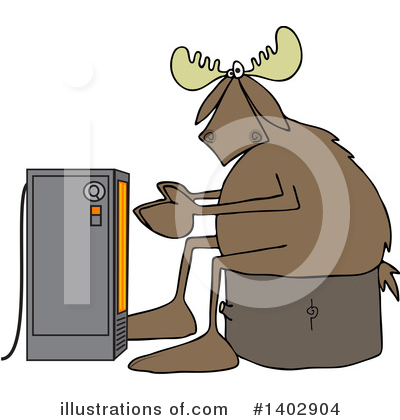 Moose Clipart #1402904 by djart