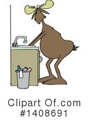 Moose Clipart #1408691 by djart