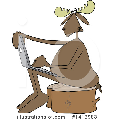 Moose Clipart #1413983 by djart