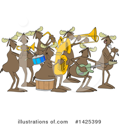 Music Band Clipart #1425399 by djart