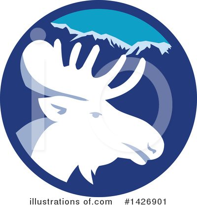 Moose Clipart #1426901 by patrimonio