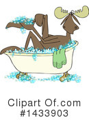 Royalty-Free (RF) Moose Clipart Illustration #1433903