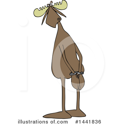 Royalty-Free (RF) Moose Clipart Illustration by djart - Stock Sample #1441836