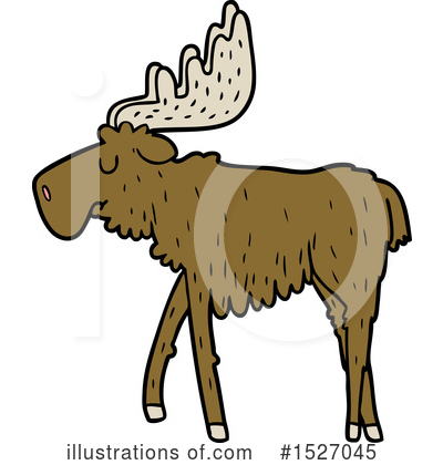 Moose Clipart #1527045 by lineartestpilot