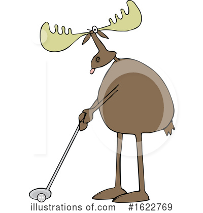 Royalty-Free (RF) Moose Clipart Illustration by djart - Stock Sample #1622769