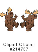 Moose Clipart #214737 by Cory Thoman