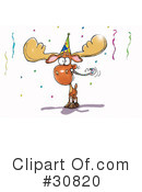 Royalty-Free (RF) Moose Clipart Illustration #30820