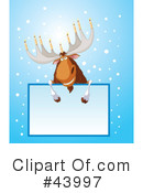Royalty-Free (RF) Moose Clipart Illustration #43997