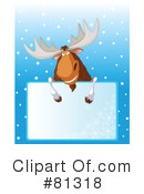 Royalty-Free (RF) Moose Clipart Illustration #81318