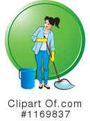 Mopping Clipart #1169837 by Lal Perera