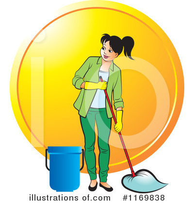 Mopping Clipart #1169838 by Lal Perera