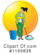 Royalty-Free (RF) Mopping Clipart Illustration #1169838