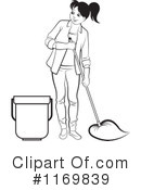 Royalty-Free (RF) Mopping Clipart Illustration #1169839