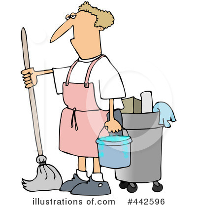 Free rf mopping clipart illustration by djart stock sle 442596