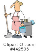 Royalty-Free (RF) Mopping Clipart Illustration #442596