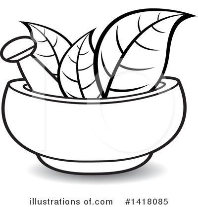 Mortar And Pestle Clipart #1418085 by Lal Perera