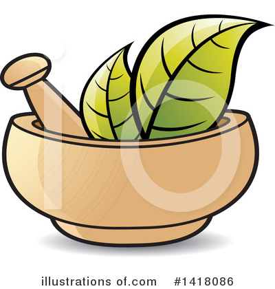 Royalty-Free (RF) Mortar And Pestle Clipart Illustration by Lal Perera - Stock Sample #1418086
