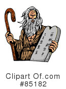 Royalty-Free (RF) Moses Clipart Illustration #85182