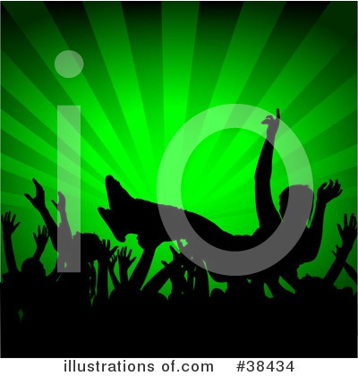 Royalty-Free (RF) Moshing Clipart Illustration by dero - Stock Sample #38434