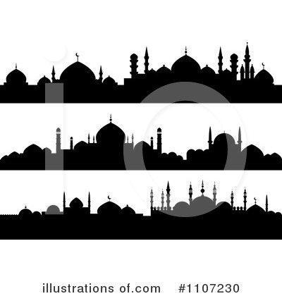 Royalty-Free (RF) Mosque Clipart Illustration by Seamartini Graphics