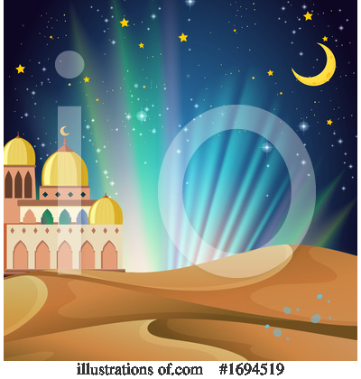 Royalty-Free (RF) Mosque Clipart Illustration by Graphics RF - Stock Sample #1694519
