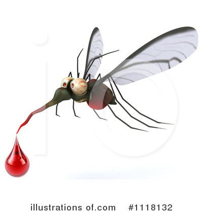 Royalty-Free (RF) Mosquito Clipart Illustration by Julos - Stock Sample #1118132