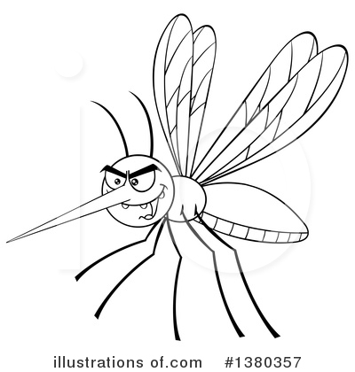 Mosquito Clipart #1380357 by Hit Toon