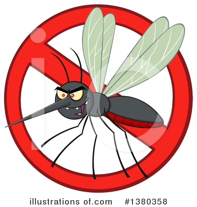 Mosquito Clipart #1380358 by Hit Toon