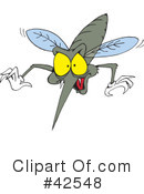 Mosquito Clipart #42548 by Dennis Holmes Designs