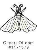 Royalty-Free (RF) Moth Clipart Illustration #1171579
