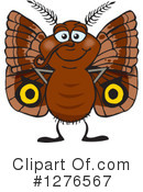 Royalty-Free (RF) Moth Clipart Illustration #1276567