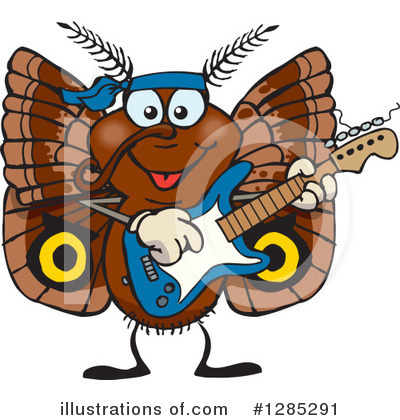 Moths Clipart #1285291 by Dennis Holmes Designs