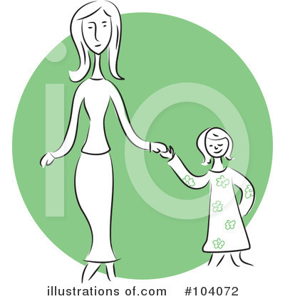 Royalty-Free (RF) Mother Clipart Illustration by Prawny - Stock Sample #104072