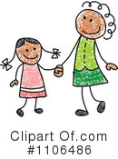 Royalty-Free (RF) Mother Clipart Illustration #1106486