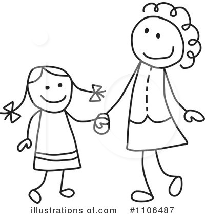 Royalty-Free (RF) Mother Clipart Illustration by C Charley-Franzwa - Stock Sample #1106487