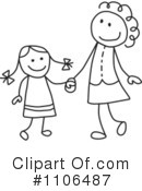 Royalty-Free (RF) Mother Clipart Illustration #1106487