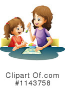 Royalty-Free (RF) Mother Clipart Illustration #1143758