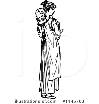 Royalty-Free (RF) Mother Clipart Illustration by Prawny Vintage - Stock Sample #1145763