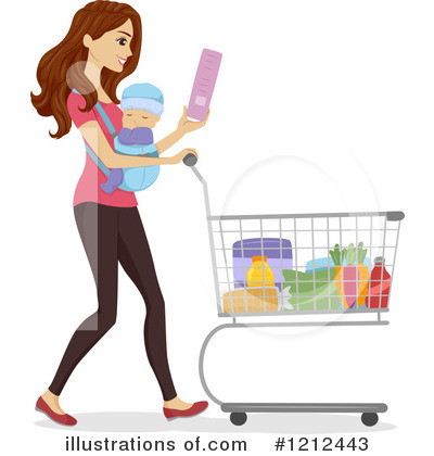 Groceries Clipart #1212443 by BNP Design Studio
