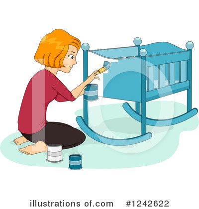 Crib Clipart #1242622 by BNP Design Studio