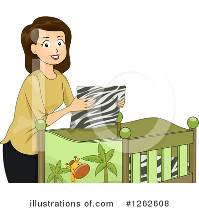 Crib Clipart #1262608 by BNP Design Studio