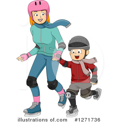 Skating Clipart #1271736 by BNP Design Studio