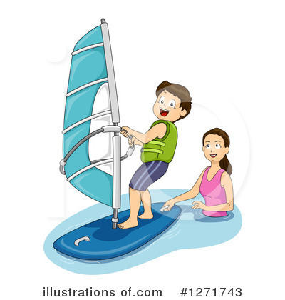 Windsurfing Clipart #1271743 by BNP Design Studio